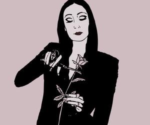 art, morticia, and dark image