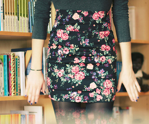 fashion, skirt, and floral image