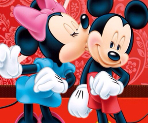disney, minnie mouse, and kiss image