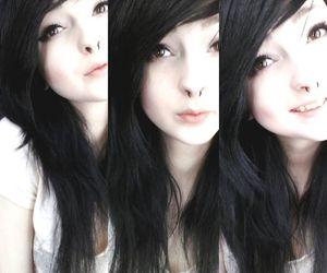 black hair, alternative, and beautiful image