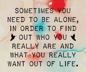 alone, quotes, and life image