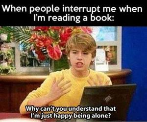 book, alone, and interrupt image
