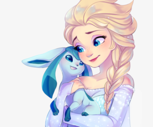 frozen elsa and glaceon image