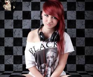 alt girl, alt model, and red hair image