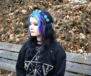 dyed hair, goth, and gothic image