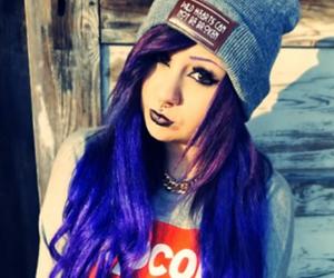 blue hair, scene queen, and verena schizophrenia image