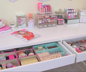 bedroom, dressing table, and makeup image