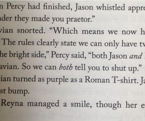 book, percy, and Reyna image