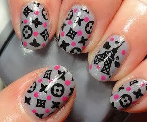 nails, nail art, and paris image