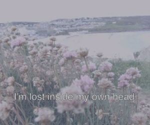 lost, flowers, and grunge image
