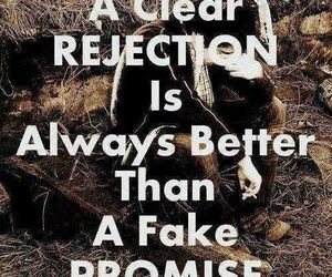 fake promises and clear rejection image