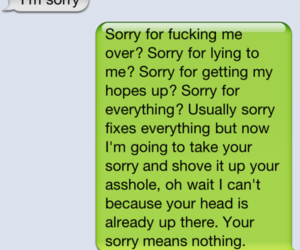 apology, sorry, and text image