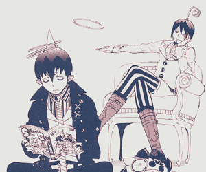 amaimon, manga, and blue exorcist image