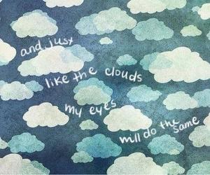 clouds, i miss you, and rain image