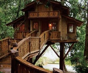 tree house, house, and home image