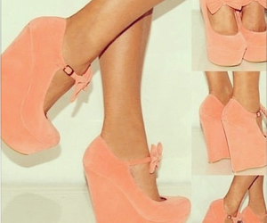 bow, heels, and pink image