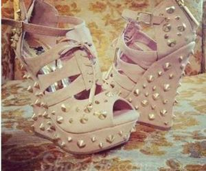 pretty shoes, wedge, and studs image