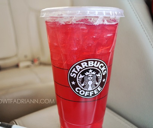 starbucks, drink, and red image