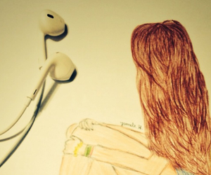 color, drawing, and earphones image