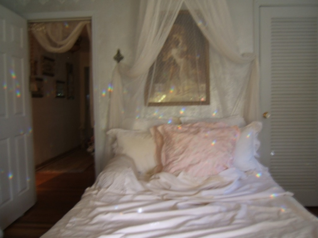 pale, pink, and bed image