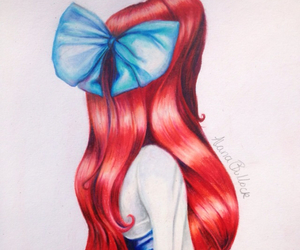 disney, redhead, and the little mermaid image