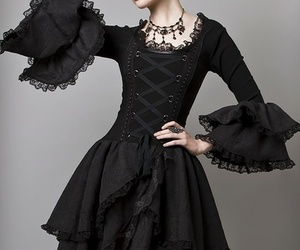 gothic, black, and dress image
