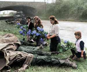 1945, american soldiers, and russian women image