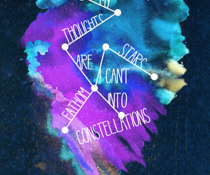 beautiful, constellation, and quotes image