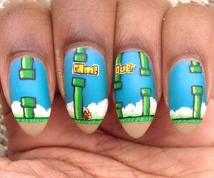 flappy bird, bird, and nails image
