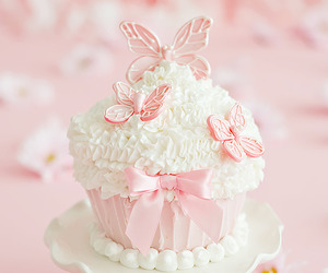 pink, cupcake, and sweet image