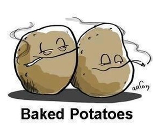 weed, funny, and potato image