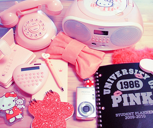 pink, hello kitty, and girly image