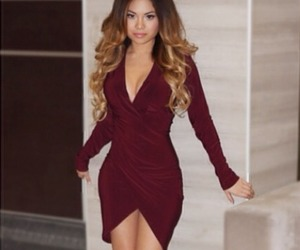 dress, fashion, and long hair image