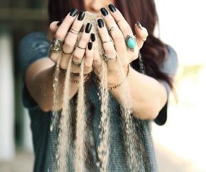 girl, sand, and nails image