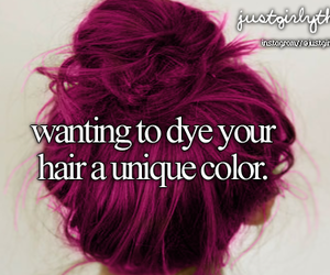 hair, unique, and color image