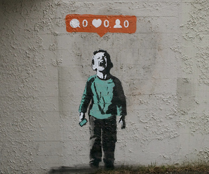 instagram, art, and BANKSY image