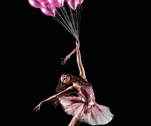 ballet, pink, and balloons image