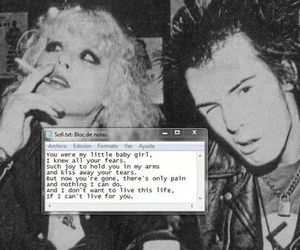 love, punk, and sid and nancy image