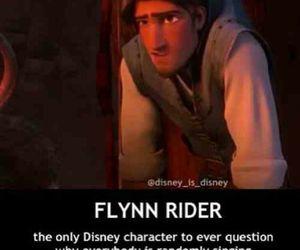 disney, tangled, and flynn rider image