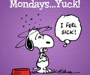 monday, snoopy, and sick image