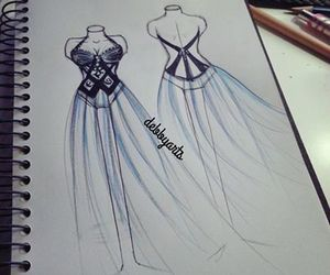 draw, dress, and art image