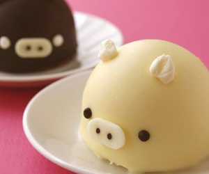 pig, cute, and food image