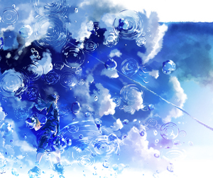 water, anime, and blue image