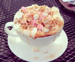 food, marshmallow, and coffee image