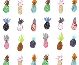 ananas, colorful, and painting image