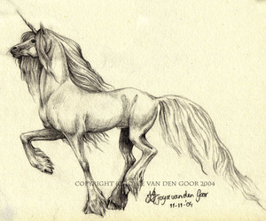 draw, horse, and unicorn image