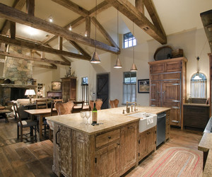 kitchen and rustic kitchen image
