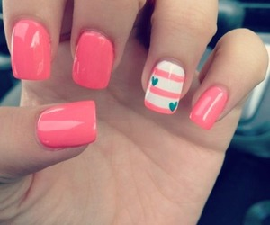 nails, fashion, and pink image