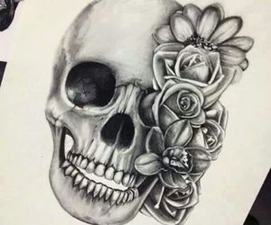 flower, rose, and Tattoos image