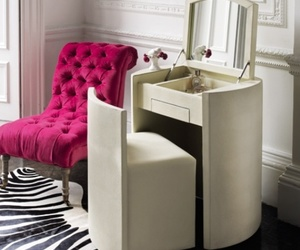dressing table, modern house, and bed room decoration image